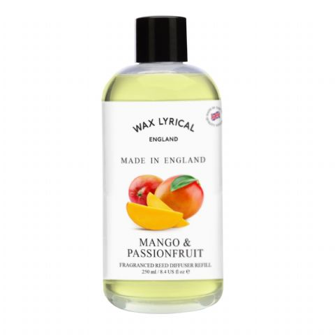 Mango & Passionfruit Fragranced Reed Diffuser Refill Made In England Wax Lyrical 250ml